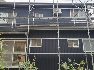 新潟県三条市の屋根外壁塗装リフォーム専門店「遠藤組」外壁がルバリウム鋼板カバー工事