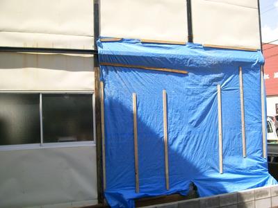 新潟県三条市の屋根外壁リフォーム専門店遠藤組 プレハブ建物外壁修理