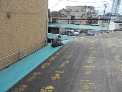 新潟県三条市の屋根外壁塗装リフォーム専門店遠藤組 屋根下地葺き