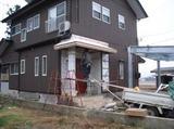 新潟三条屋根外壁塗装リフォーム専門店遠藤組 玄関庇ステンレス板葺き