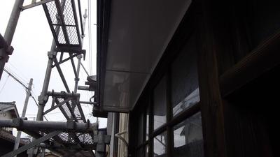 新潟県三条市の屋根外壁塗装リフォーム専門店遠藤組 霧除け裏面カラーGL貼り