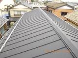 新潟屋根リフォーム 遠藤組 三条市N様邸 立平葺ガルバリウム鋼鈑に葺き替え