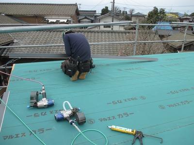 新潟県三条市の 遠藤板金工業 立平ロック 屋根工事