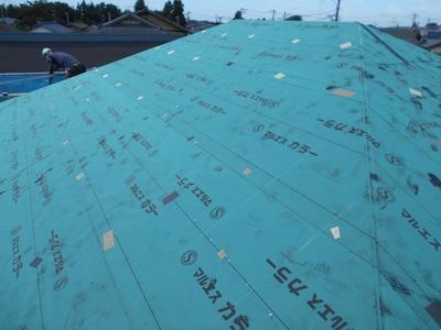 新潟県三条市の屋根工事 遠藤板金工業 横葺 屋根