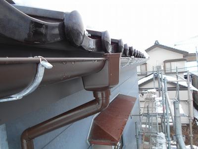 新潟県三条市の屋根外壁塗装リフォーム専門店遠藤組 燕市G様邸破風鼻隠し、雨樋リフォーム工事