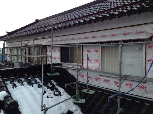 新潟県三条市の屋根外壁リフォーム専門店《遠藤組》 遠藤板金工業有限会社 外壁張替工事