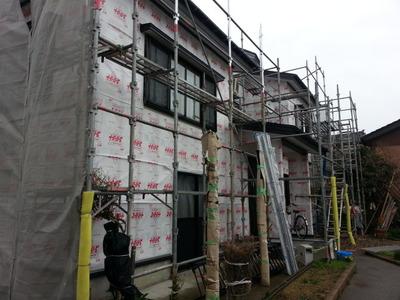 新潟県三条市の屋根外壁雨といリフォーム専門店遠藤組 見附市外壁サイディング張り替え工事