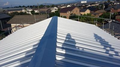 新潟県三条市の屋根外壁塗装リフォーム専門店遠藤組 屋根カバー工事 ガルバリウム鋼板使用