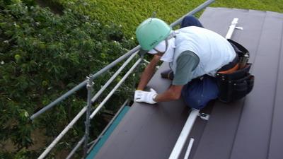 新潟県三条市の屋根外壁塗装リフォーム専門店遠藤組 金属屋根工事