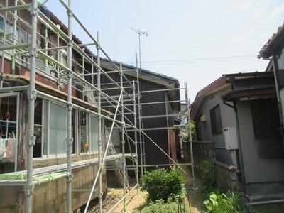 新潟県三条市の屋根外壁塗装リフォーム専門店 遠藤組 安全作業のための仮設足場