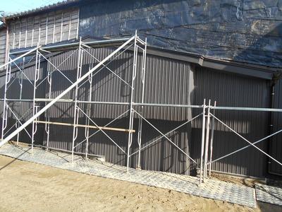 新潟県三条市の屋根外壁塗装リフォーム専門店遠藤組 角波カラーGL鋼板0.35mmで外壁補修
