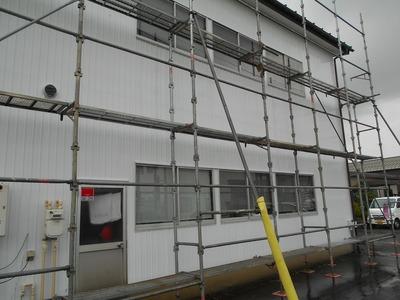 新潟県三条市 外壁 リフォーム 角波カラーGL0.35張替え