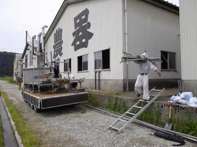 新潟県三条市の屋根外壁雨樋リフォーム専門店《遠藤組》 M社様足場解体作業