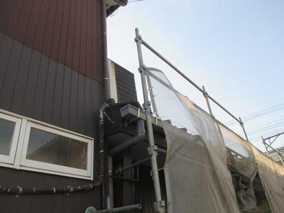 新潟県三条市の屋根外壁塗装リフォーム専門店遠藤組 今日で屋根外壁雨樋工事は終わっています。