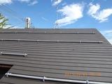 新潟三条屋根外壁塗装リフォーム専門店《遠藤組》横葺屋根耐摩カラーGL耐摩こげ茶