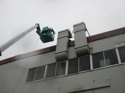 新潟県三条市の屋根外壁塗装リフォーム専門店遠藤組 ダクト撤去工事完了しました。