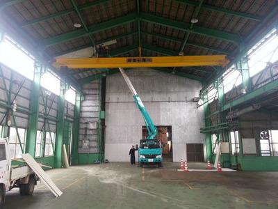 新潟県三条市の屋根外壁塗装リフォーム専門店遠藤組 倉庫天井ガルバリウム鋼鈑貼り