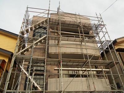 新潟県三条市の屋根外壁塗装リフォーム専門店遠藤組 長岡M様邸工事開始