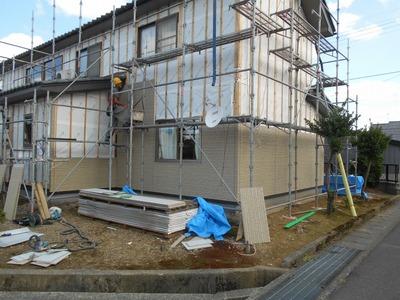 新潟県三条市の屋根外壁塗装リフォーム専門店遠藤組 ニチハ16mm金具留めサイディング