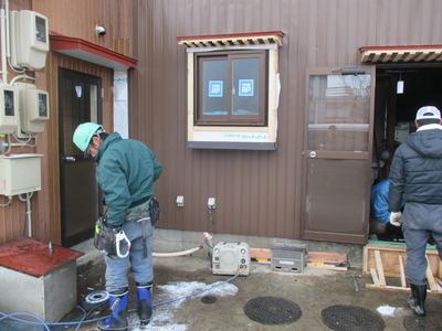 新潟県三条市の屋根外壁雨樋専門店 遠藤板金工業有限会社 外壁角波カラーGLの補修工事