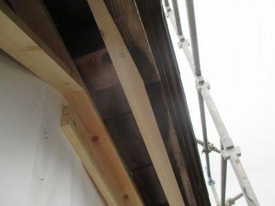 新潟県三条市の屋根外壁塗装リフォーム専門店 遠藤組 軒裏カラーGL貼り