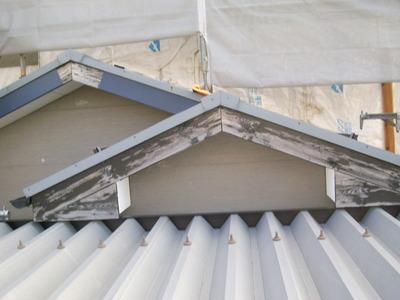 新潟県三条市の屋根外壁塗装リフォーム専門店《遠藤組》 破風 ガルバリウム鋼板貼り
