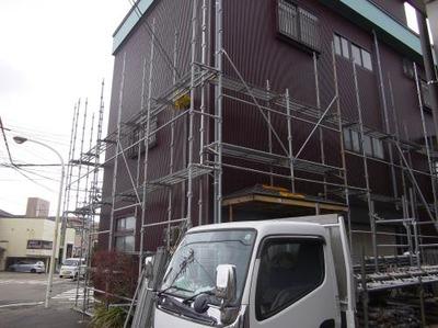 新潟県三条市の屋根外壁リフォーム専門店《遠藤組》遠藤板金工業 足場の解体作業