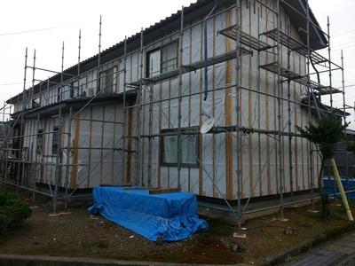 新潟県三条市の屋根外壁塗装リフォーム専門店遠藤組 三条市W様邸外壁張り替え工事