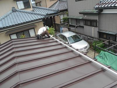 新潟県三条市の屋根外壁塗装リフォーム専門店遠藤板金工業 車庫リフォーム
