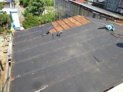 新潟県三条市の屋根外壁塗装リフォーム専門店遠藤組 屋根リフォーム(下地工事)