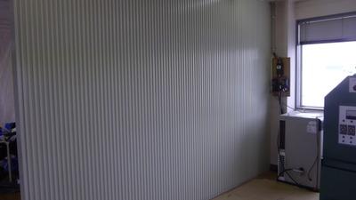 新潟県三条市の屋根外壁塗装リフォーム専門店遠藤組 屋内仕切り壁スパンドレル張り