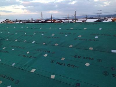 屋根アスファルトルーフィング葺き