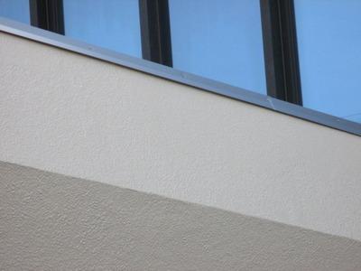 新潟県燕三条の外装リフォーム笠木カラーガルバリウム鋼板取り付け