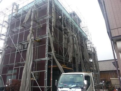 新潟県三条市の屋根外壁リフォーム専門店の遠藤組  足場解体