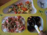 鮭ご飯、ひじき豆