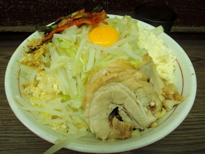 14/06/08 関二郎小+汁なし+粉チーズ+ニラキムチ2