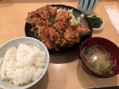 18/01/15とんかつ三田日吉店 鳥からあげ定食 05
