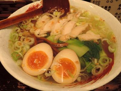 14/06/11らーめん中々(なかなか)鶏らーめん+煮玉子 1