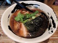 14/11/23麺場ハマトラ 醤そば+半熟味付け玉子 1