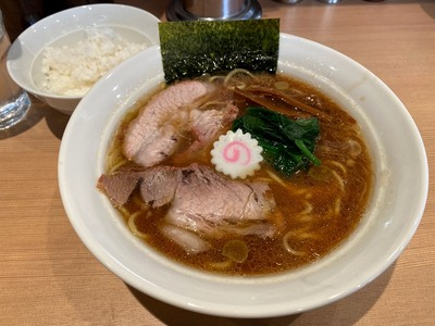 20/01/21生姜醤油ラーメン長岡食堂 02