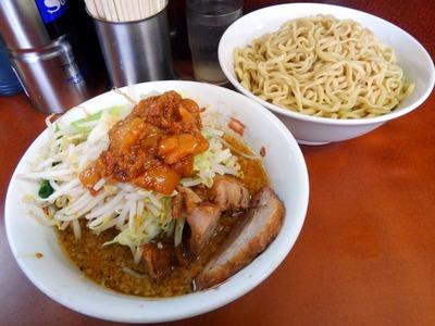 16/06/07め二郎 小つけ麺し(ニンニク、野菜、アブラ)04