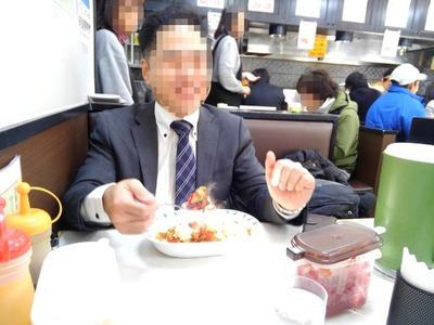 16/02/04バーグ弥生町店 スタミナカレー並盛生玉子のせ07