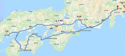 2019夏季ツーリング全体(構想)