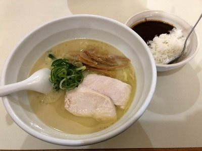 19/02/25らーめんれんげ 鶏白湯らーめん+ミニカレー丼05
