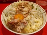 13/08/17二郎府中 小ラーメン+チーズ(ニンニク