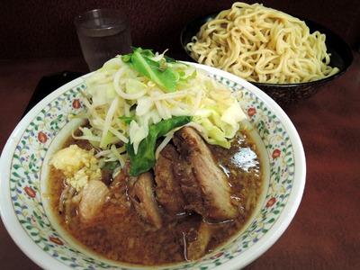 14/07/29 ぶた入り小つけ麺(ニンニク、ヤサイ)3