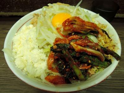 14/06/08 関二郎小+汁なし+粉チーズ+ニラキムチ1