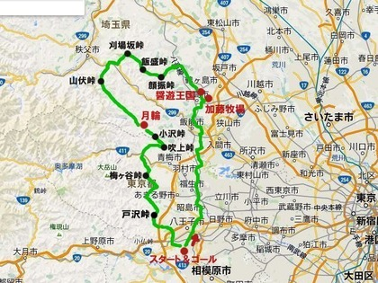 15/05/08チーズ丼ツーリング マップ