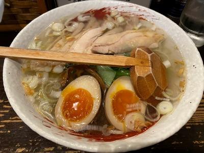 20/09/04らーめん中々(なかなか)鶏らーめん+煮玉子 03