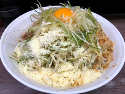 19/01/22 関二郎大汁なし+ネギ+粉チーズ07